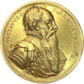 Gustav Vasa av Arvid Karlsteen - Vackert förgylld brons - SÄLLSYNT