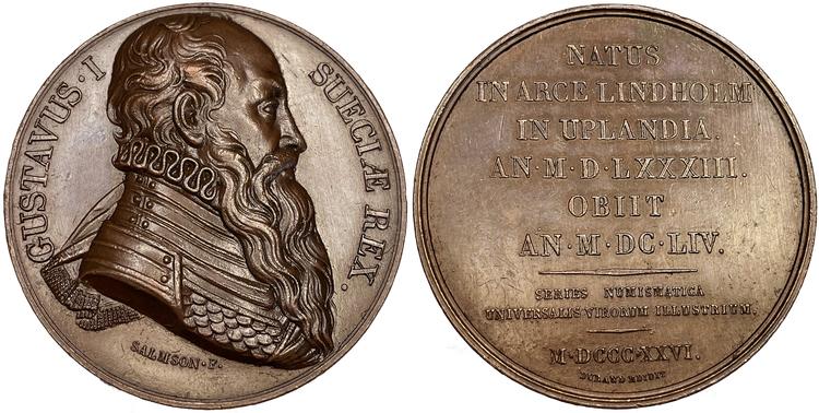 Gustav Vasa av Johan Salmson 1826 - Durands serie över berömda män