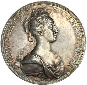 Ulrika Eleonora 1719 - Kröningen av Hedlinger med signatur kursiverad - RAR - Vackert exemplar