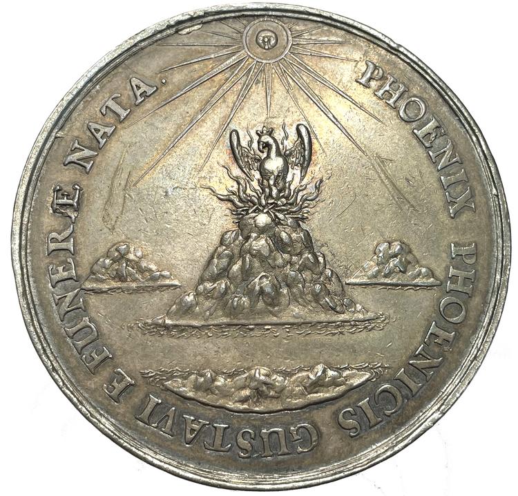 Kristina utkorad till drottning efter faderns död 1632 -  Kristinas första medalj - Sebastian Dadler - Vackert exemplar