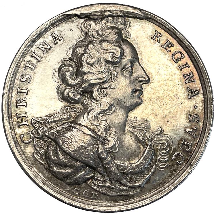 Kristina abdikerar den svenska tronen den 6 juni 1654 av Carl Gustaf Hartman - MYCKET SÄLLSYNT