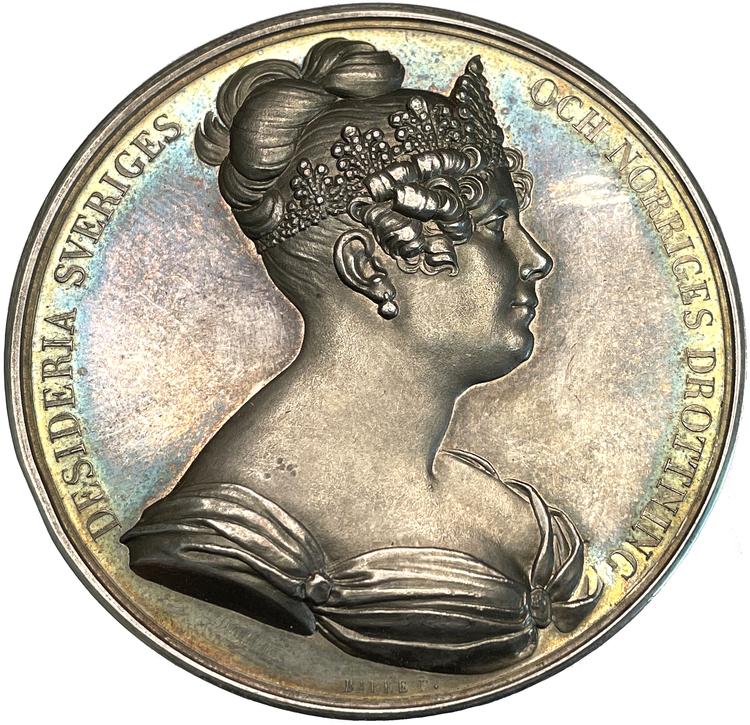 Drottning Desiderias ankomst till Sverige 1823 - Ett ocirkulerat praktexemplar