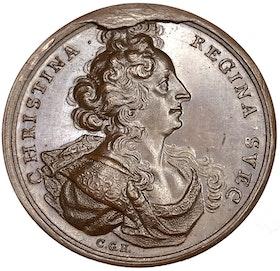 Kristina abdikerar den svenska tronen den 6 juni 1654 av Carl Gustaf Hartman - EXTREMT SÄLLSYNT - RRR