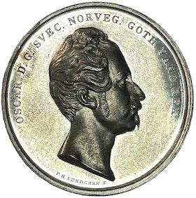 Oskar I - De tre äldsta kungliga riddarordnarnas 100-årsfest den 28 april 1848 av Lundgren