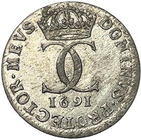 Karl XI - 5 öre SM 1691 - MYCKET VACKERT EXEMPLAR