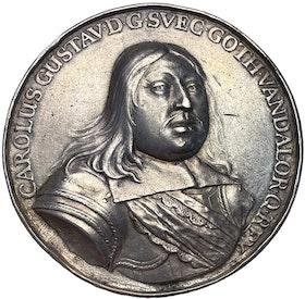 Sverige, Karl X Gustav, Medalj 1658 - Tåget över stora Bält - TOPPEXEMPLAR MYCKET SÄLLSYNT - Den viktigaste medaljen i Sveriges historia!