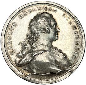 Carl Hårleman 1700-1753 - Vacker och mycket sällsynt silvermedalj av Johann Carl hedlinger