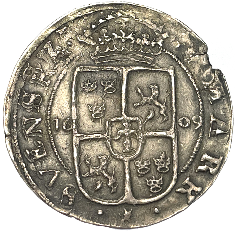 Karl IX - 1/2 Mark 1609 - MYCKET SÄLLSYNT