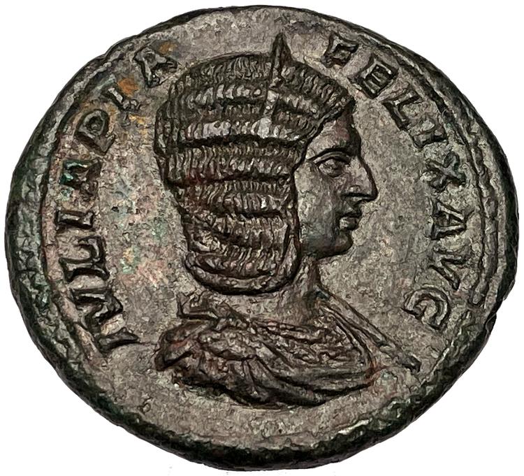 Julia Domna gift med Septimius Severus - Vacker och skarpskuret exemplar