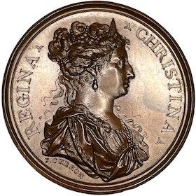 Drottning Kristina - Besöket i Paris 1656 och förhandling om kungadömet Neapel av Charles Cheron - MYCKET SÄLLSYNT och vackert ocirkulerat exemplar -