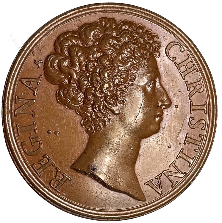 Kristina i Rom 1675 av Giovanni Hamerani - Vackert exemplar