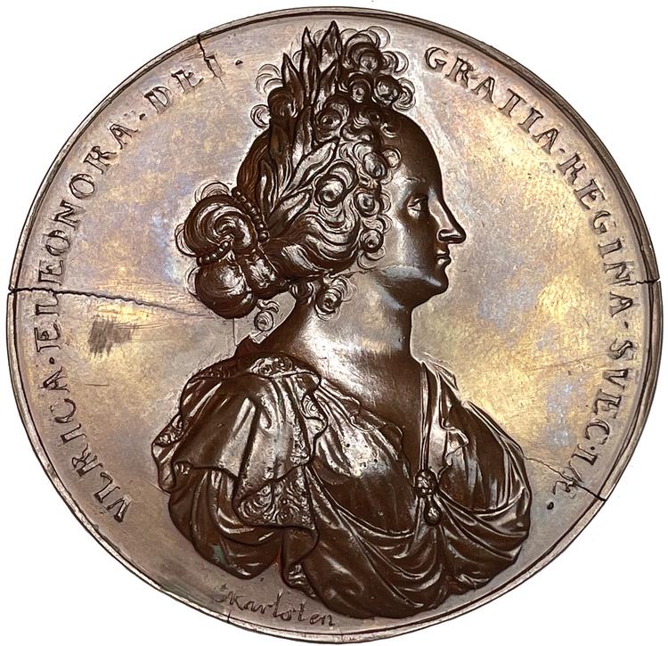 Konung Karl XI med sin drottning Ulrika Eleonora d:ä - 1690 - Enda kända exemplaret i modern tid - XR