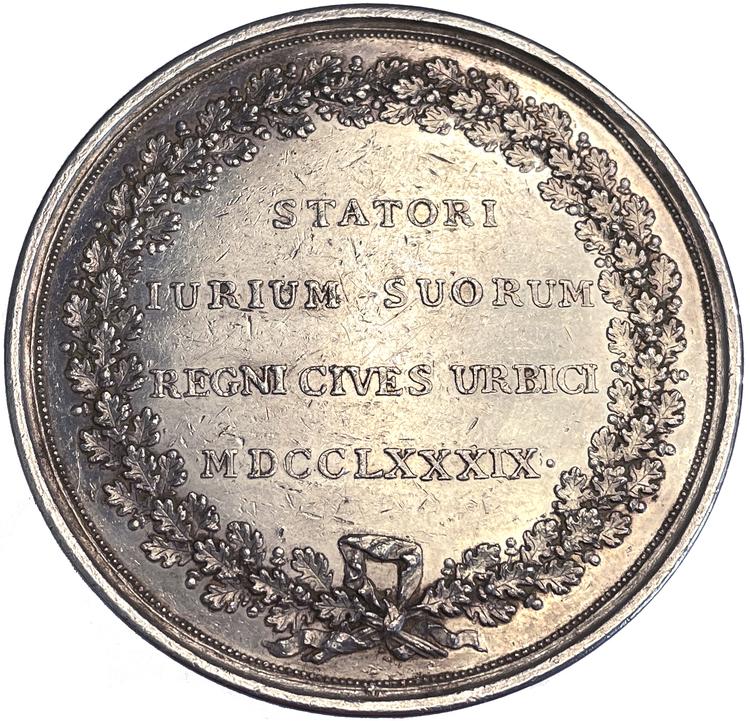Gustav III - Borgerskapets priviliegier stadsfästs på riksdagen 1789 - Sällsynt