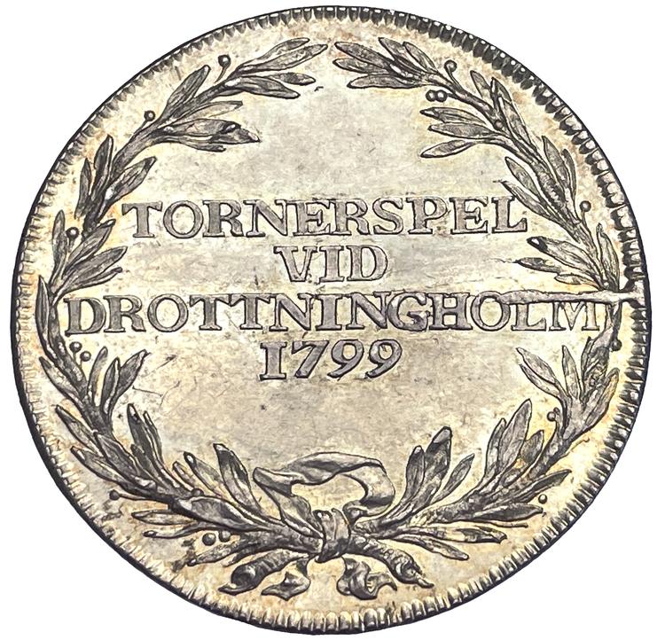 Tornerspel 1799 vid Drottningholm - Toppexemplar och mycket sällsynt - RR