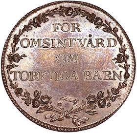 Gustav IV Adolf -  FÖR ÖMSINT VÅRD OM TORFTIGA BARN - Ocirkulerat toppexemplar - Extremt sällsynt - RRR - graverad av Fehrman