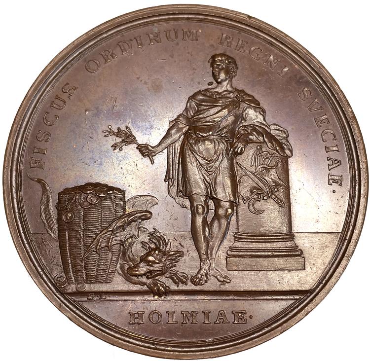 Adolf Fredrik - Rikets Ständers Bank 100-år 1768 av Ljungberger - RAR