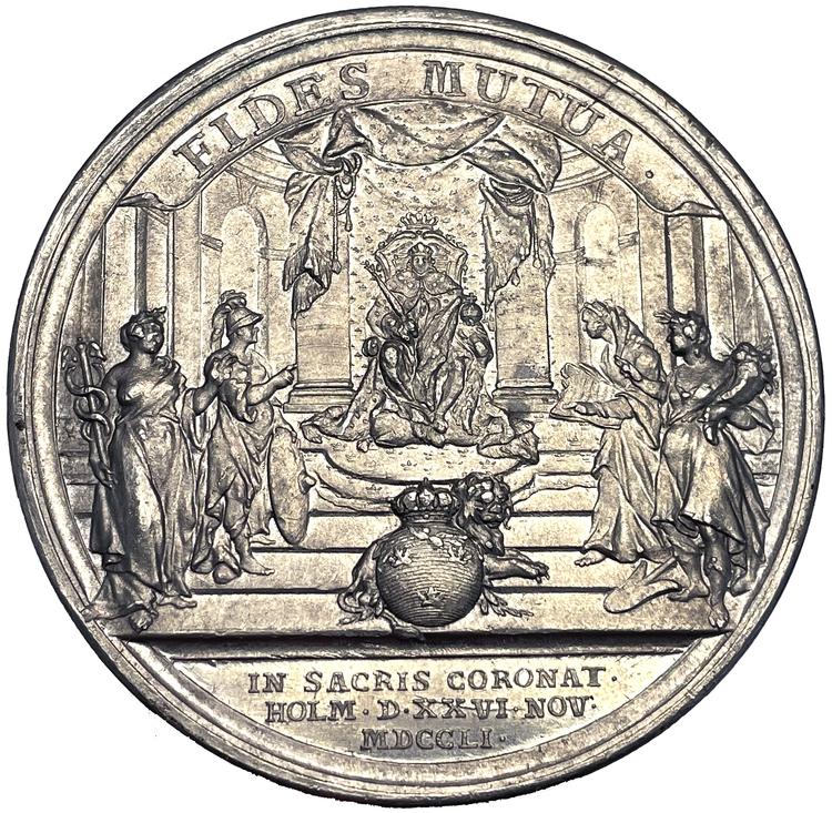 Adolf Fredriks kröning i stockholms storkyrka den 26 november 1751 - EXTREMT SÄLLSYNT - RRR - av Daniel Fehrman