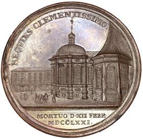 Adolf Fredriks död och begravning 1771 av Ljungberger - OCIRKULERAT TOPPEXEMPLAR och MYCKET SÄLLSYNT