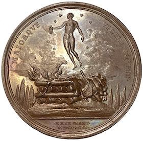 Gustav III:s död och begravning 1792 av Fejrman - Ocirkulerat praktexemplar - Extramt RAR - RRR