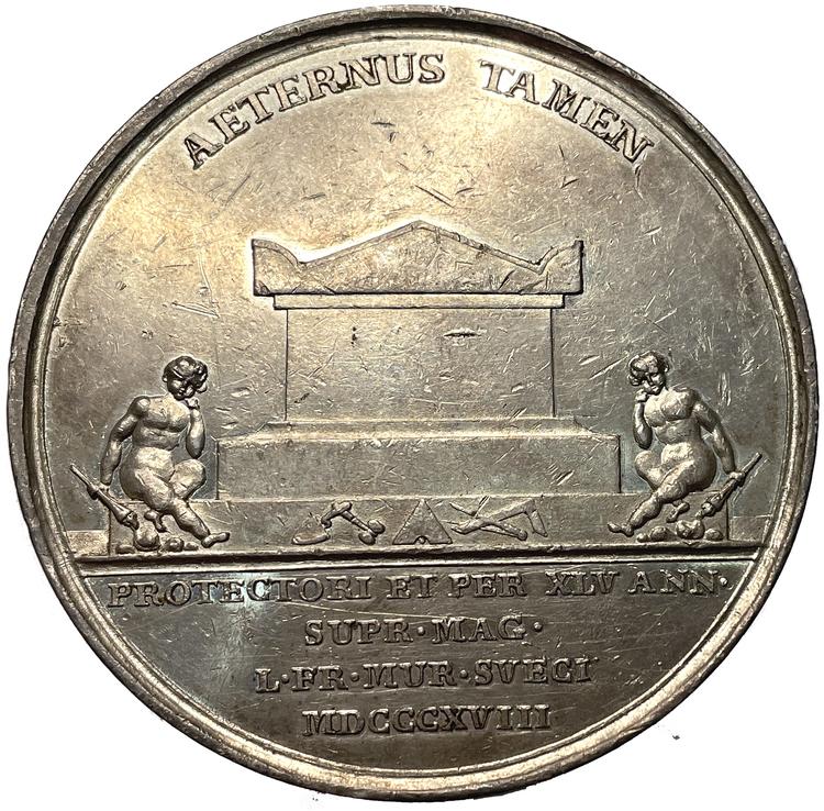 Karl XIII:s död i Stockholm 1818 av Mauritz Frumerie