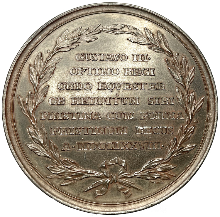 Gustav III - Riddarhuset återställs vid riksdagen 1778 - Av Ljungberger - RRR