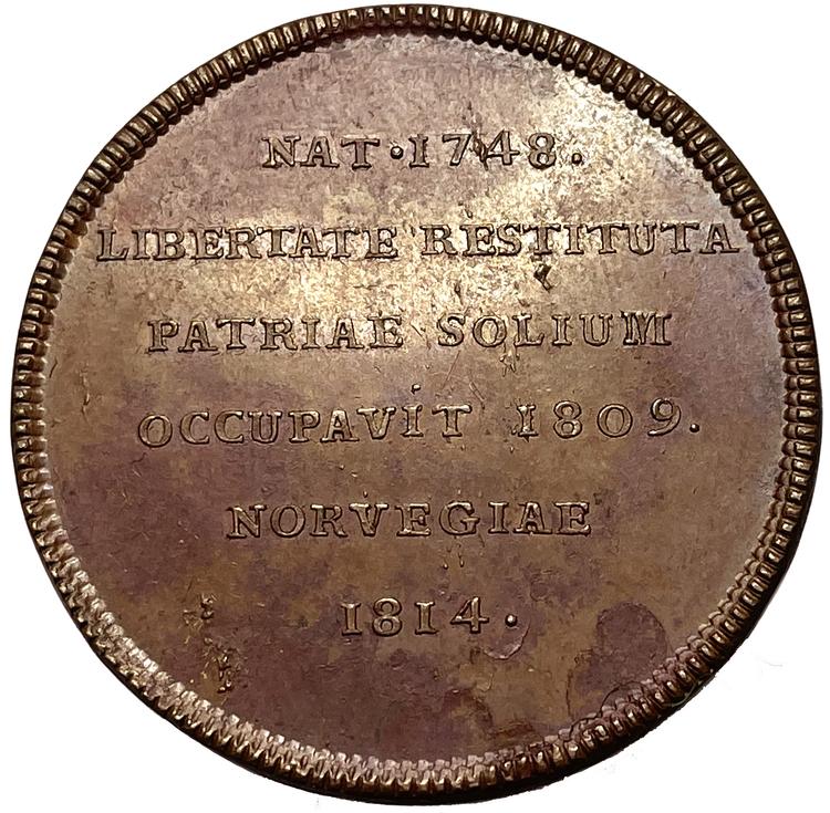 Karl XIII - Unionen mellan Sverige och Norge 1814 av Enhörning - MYCKET SÄLLSYNT - RR