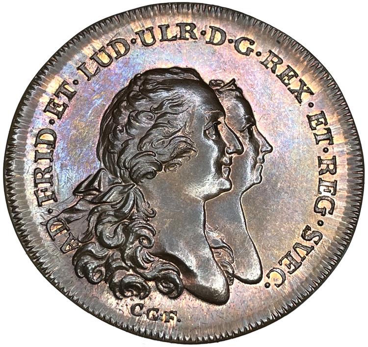 Prinsessan Sophia Albertinas födelse den 8 oktober 1753 av Fehrman - OCIRKULERAT PRAKTEXEMPLAR - RRR