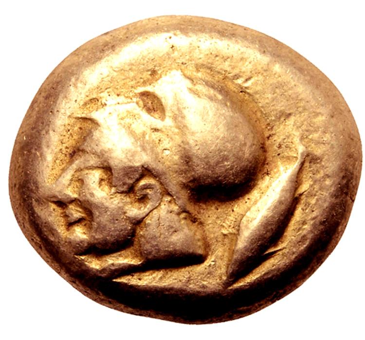 Världens första mynttyp - Stater i guld ca 550 f.Kr - MYCKET SÄLLSYNT