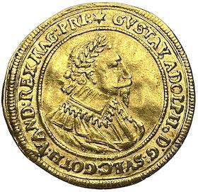 Gustav II Adolf, Nürnberg dukat 1632 - Mycket vackert exemplar med underbar lyster på stort myntämne