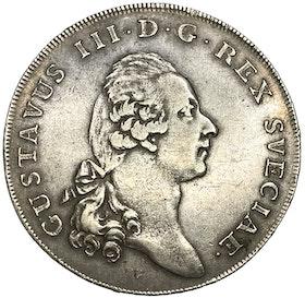 Riksdaler 1781 med 1772-års bild - Tilltalande exemplar