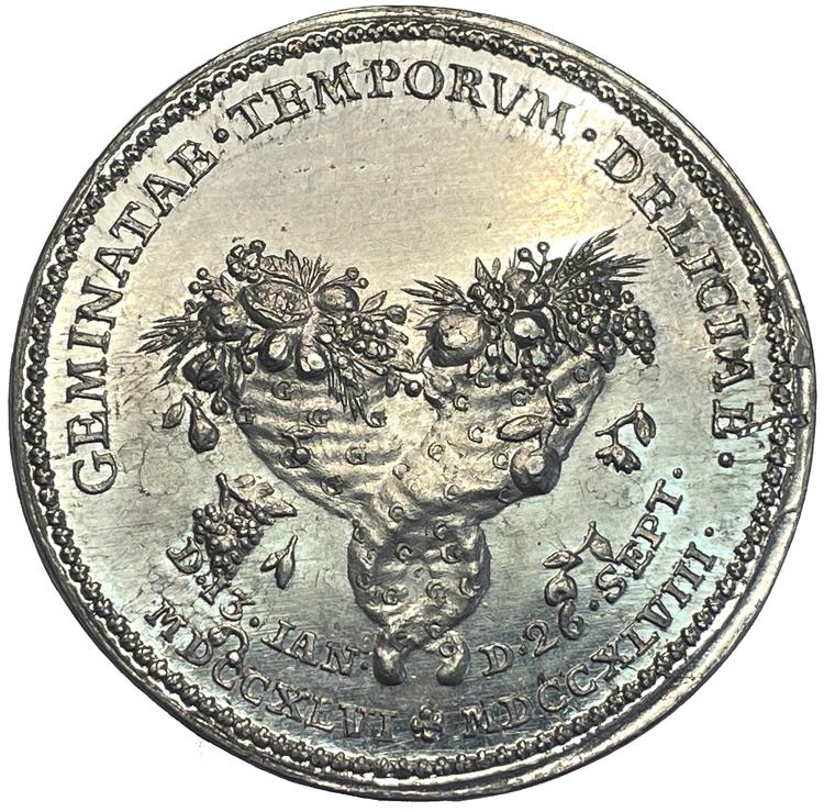 Adolf Fredrik med anledning av sonen Karls (XIII) födelse 1748 av Daniel Fehrman - MYCKET SÄLLSYNT - RR