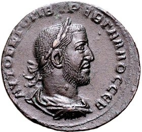 Trebonianus Gallus, 251-253 e.Kr,  Antiokia ad Orontem, Seleukis och Pieria - Ett ocirkulerat toppexemplar - MYCKET SÄLLSYNT