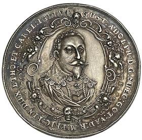 Gustav II Adolf:s död 1632 - Vacker medalj av Sebastian Dadler