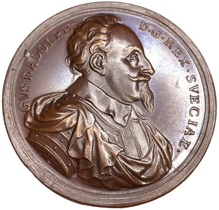 Gustav II Adolfs minne av Arvid Karlsteen - MYCKET VACKERT EXEMPLAR