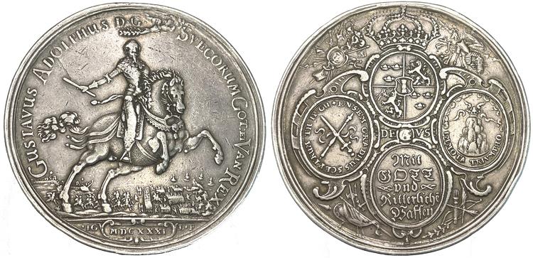 Gustav II Adolf - Segern vid Breitenfeldt 1631 av Gentil