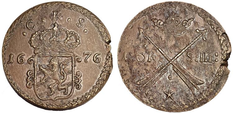 Karl XI - 1 Öre SM 1676