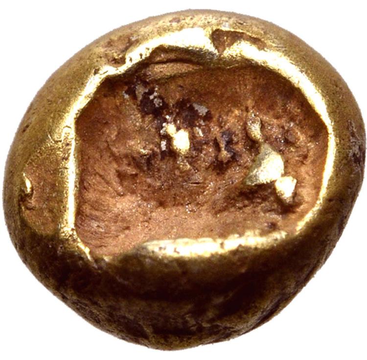 Ionien, osäker myntort 650-600 f.Kr - Protomynt, det första präglade myntlika myntet