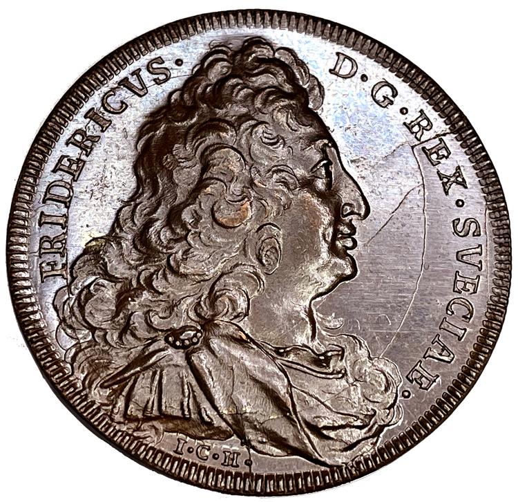 Fredrik I - Sveriges välstånd ca 1730 av Hedlinger - Det bästa kända exemplaret - RAR