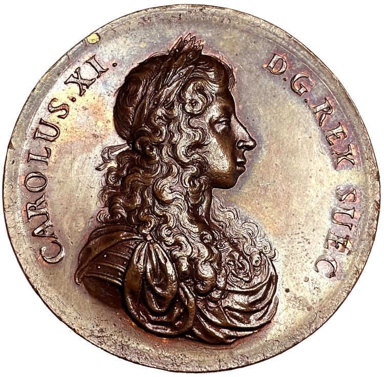 Karl XI rider Eriksgata 1673 av Arvid Karlsteen - MYCKET SÄLLSYNT