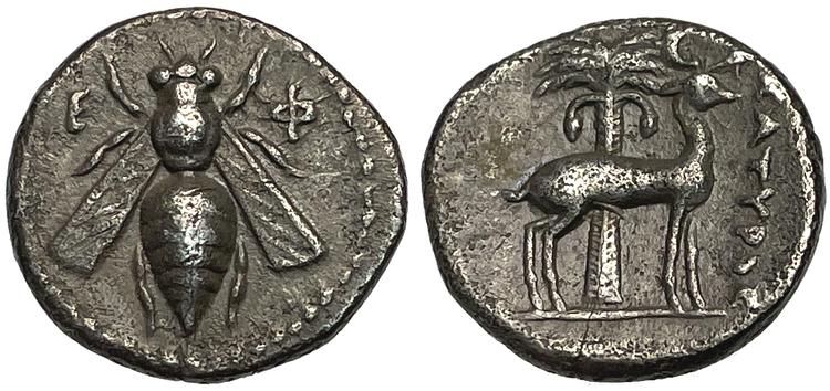 Ionien, Efesus, ca 202-150 f.Kr, Drachm - Vackert exemplar med glans