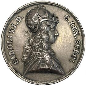 KARL XI - Segern vid Lund 1676 av J.G. Breuer - MYCKET VACKERT EXEMPLAR