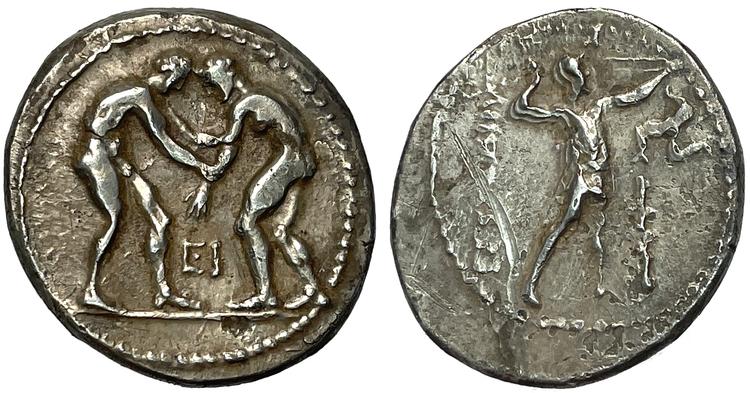 Pamfylien, Aspendos, Stater ca 380-325 f.Kr