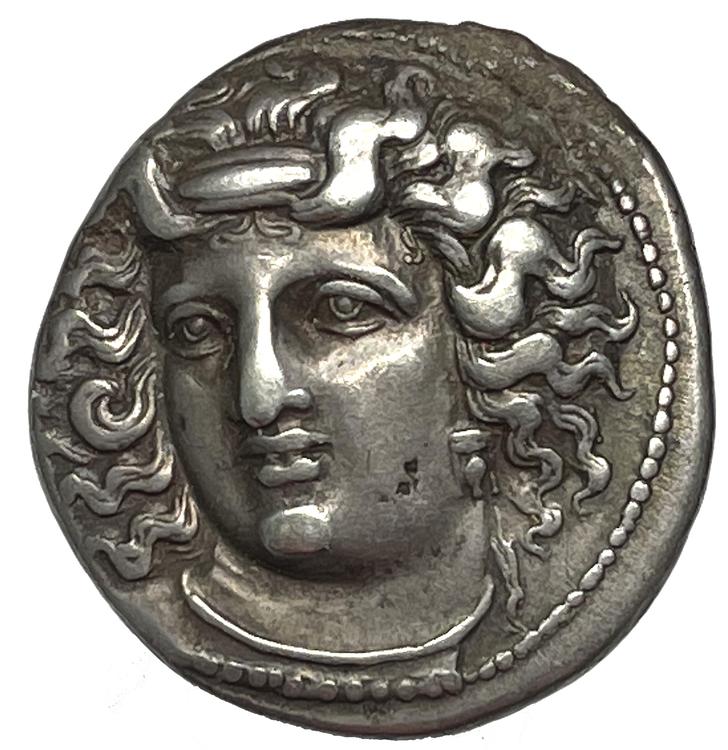 Tessalien, Larissa, Drachm ca 356-342 f.Kr - Ett vackert och tilltalande exemplar
