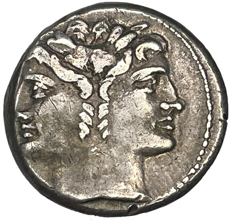 Romerska republiken, Didrachm Rom 225-214 f.Kr - TILLTALANDE EXEMPLAR