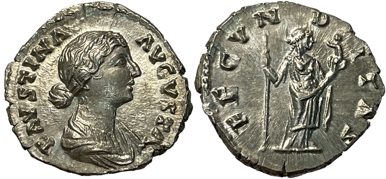 Faustina junior, gift med Markus Aurelius - PRAKTEXEMPLAR