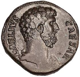 Aelius (adopterad tronföljare av Hadrianus) - Praktfull sestertie