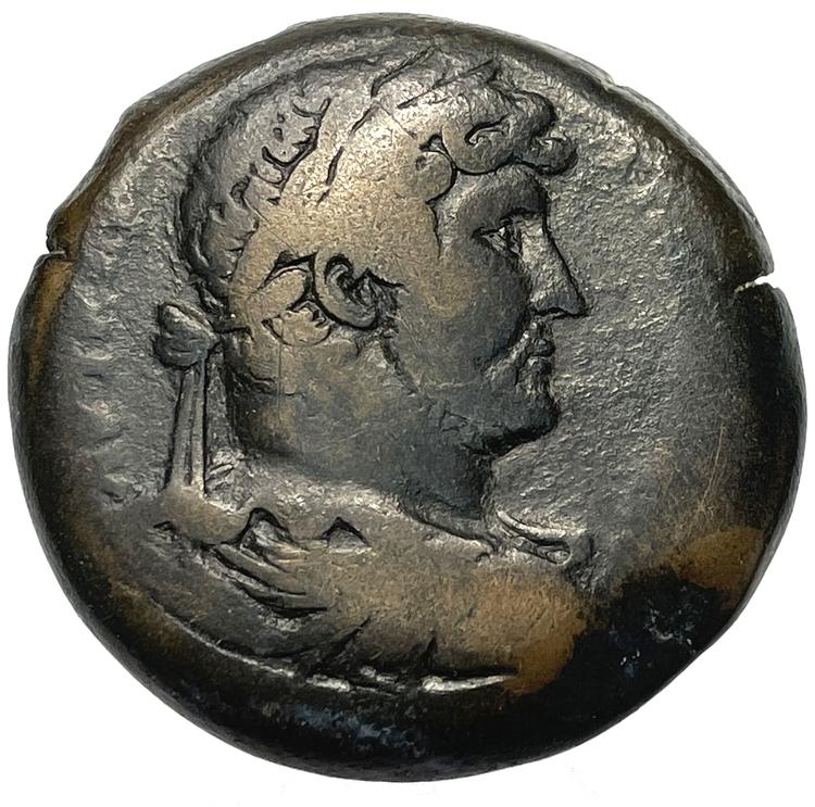 Hadrianus 117-138, Egypten, Alexandria, Bronsdrachm - Tilltalande exemplar