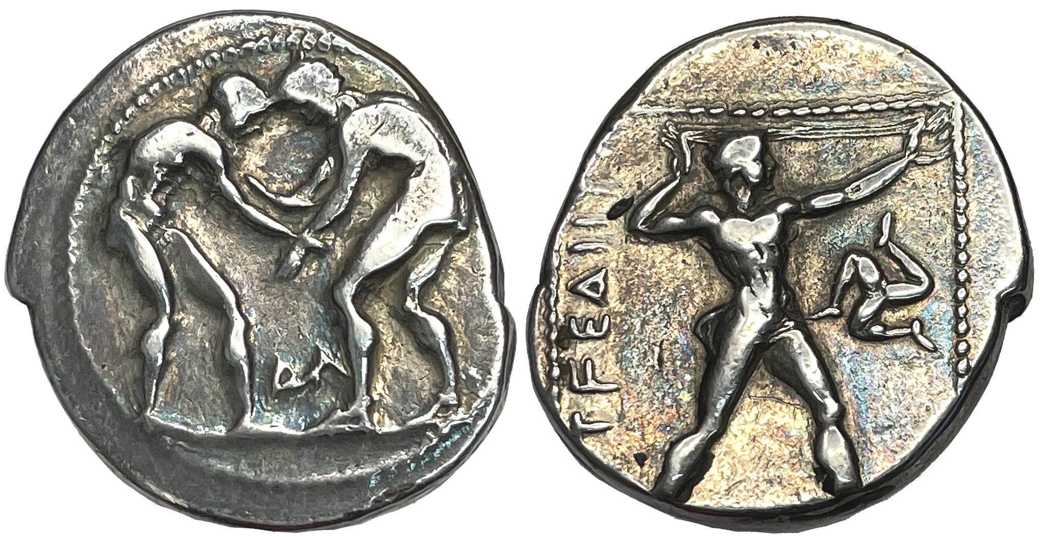 Pamfylien, Aspendos, Stater ca 380-325 f.Kr - Vackert exemplar