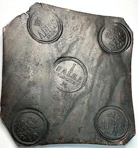 Adolf Fredrik Plåtmynt 1 Daler Silvermynt 1753 - Vackert exemplar
