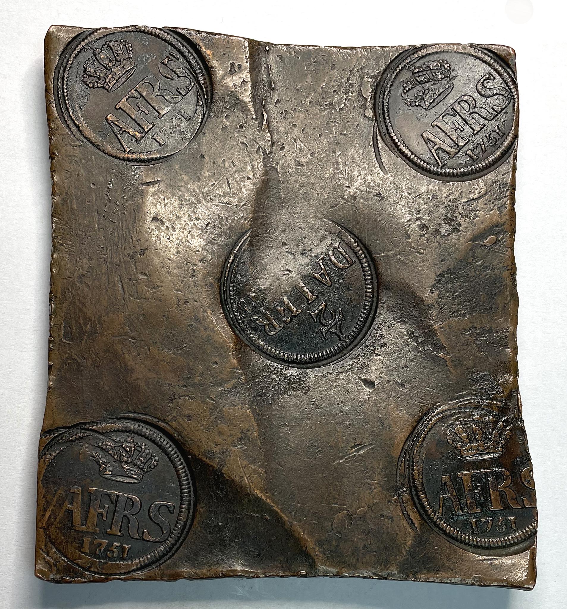 Adolf Fredrik, plåtmynt 1/2 Daler Silvermynt 1751